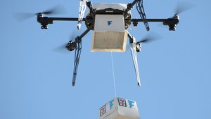 Historic 1st FAA-approved food delivery? Of course, it's a Slurpee and a doughnut