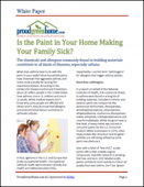 Is the Paint in Your Home Making Your Family Sick?