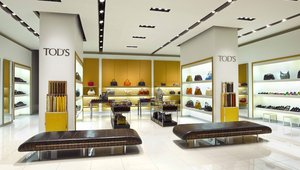<p>Upon entering the store through glass doors, located on the first level of the mall across from Armani and Ferragamo, shoppers are immersed in a balance of modernity and tradition.</p>