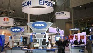 The Epson booth.