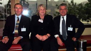 From left to right: Steve Copestake, Ellen Stebbins and Lyle Elias.