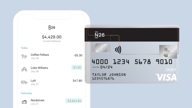 N26 marks US mobile bank launch with P2P, Tidal discount