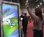 Gestural-interactive digital signage interacts with shoppers (Video)
