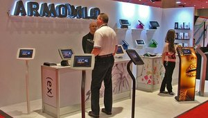 Armodilo had a variety of tablet-based kiosks to show off.