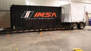 Snow delayed the arrival of the delivery truck by a day. Ikoniq staff came in on a Sunday to load the container-based pop-up store. It was bound for Florida, where Game Merchandising would use it for a race at Daytona International Speedway.