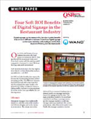 Four Soft ROI Benefits of Digital Signage in the Restaurant Industry