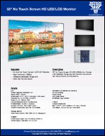 """55"""" No Touch Screen HD LED/LCD Monitor Sell Sheet"""