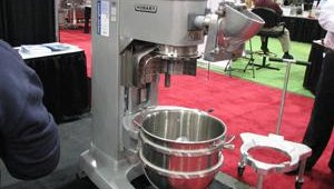 Hobart, one of nearly 200 vendors at the North American Pizza and Ice Cream Show, held Feb. 22-23 in Columbus, Ohio, displayed the latest in mixer technology.