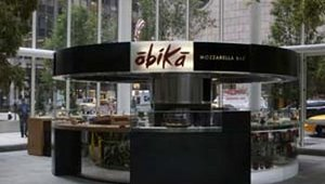 Obikà Mozzarella Bar, located in New York City's IBM Atrium, features a menu of fresh mozzarella cheese and sliced meats and fish. The average guest check is between $15 and $21, said managing partner Anthony Fauci.