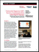 University Improves Self-Service, Communication with Digital Signage