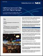 California Casino Wins Big with NEC Digital Signage