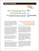 The Changing Face of Menu Boards