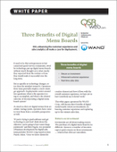 Three Benefits of Digital Menu Boards