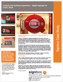 A brand new banking experience - digital signage for OCBC Bank