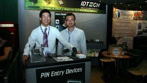 Justin Ning and David Ning enjoyed talking about ID Tech.