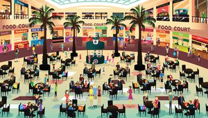 Food court digital signage delivers upsell