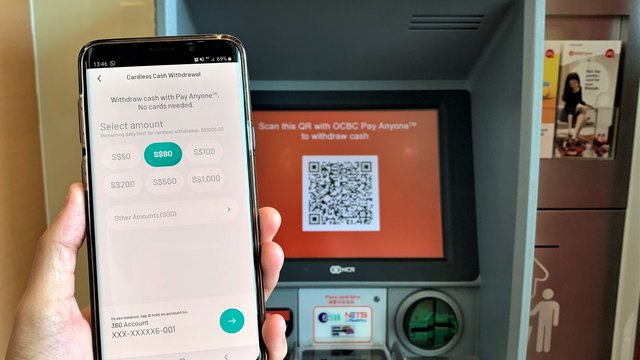 Singapore's OCBC Bank launches cardless ATM withdrawals