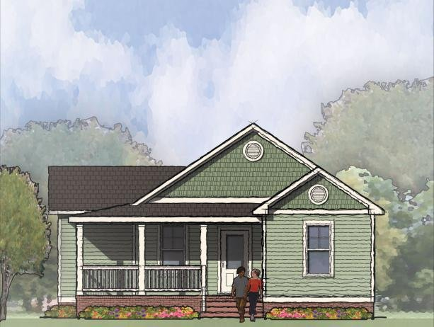 Tightlines designs home plans proud green home for Double front porch house plans