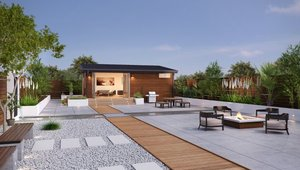 "<p>The Cabana Mini and Cabana designs at 400 and 640 sq. ft., offer small footprints and lots of flexibility as yoga studios, home office units, ""bunk house"" style expansion spaces for guests, and even fully independent, two-bedroom ""tiny homes.""</p>"