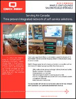 Serving Air Canada: Time Proven Network of Intergarted Self-Service Solutions