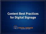 Webinar: Content Best Practices for Digital Signage Networks