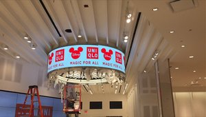 Dynamic digital displays installed in Uniqlo's 1st Florida store