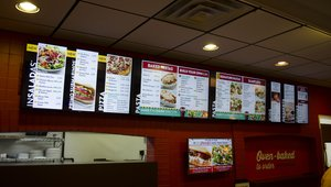 <p>Updates to Dayton, Ohio-area stores include four panel digital menu boards. The boards feature different menu items based on daypart.</p>
