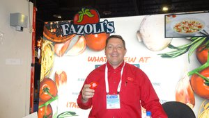 Steve Bailey presents Fazoli's Restaurants to casino operators.