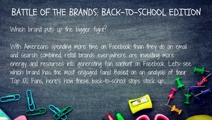 Back-to-School: How retailers are tackling consumers' social network activity to engage customers