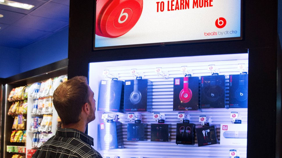 Airport shoppers enjoying new interactive retail experience