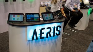<p>AERIS was at the show to demo its POS system.</p>