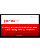 WEBINAR: Creating a State-of-the-Art Video Wall: A case study from UC Riverside