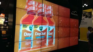 Panasonic's video wall showed a variety of products in their best light.
