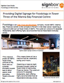 Providing Digital Signage for Foodology in Tower Three of the Marina Bay Financial Centre