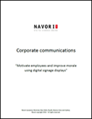 Corporate Communications | Navori Labs Digital Signage Engine
