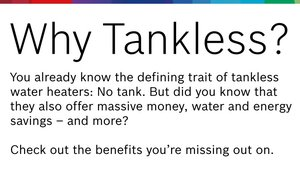 Do You Know the Benefits of a Tankless Water Heater? (Infographic)