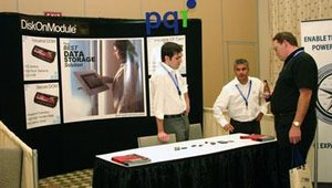 PQI Corp. allowed attendees a close-up look at its DiskOnModule brand of flash memory.