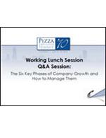Pizza Summit 2010 Six Key Phases of Company Growth
