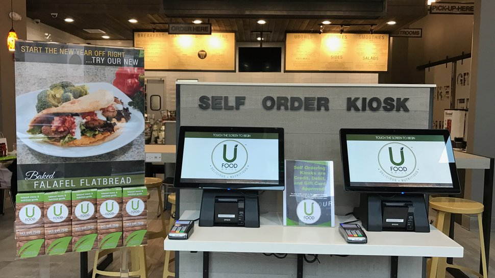 UFood Grill's self-serve kiosk recognizes customers' faces