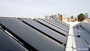 Veterans housing gets solar water heater system
