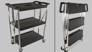 Save backroom space with unique folding carts