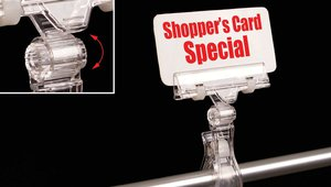 Versatile New Clip-On Sign Holder Swivels for Ideal Viewing Angle