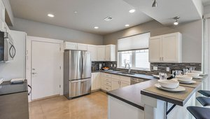 For additional energy savings, nearly all of this home's lighting is supplied by advanced technology LEDs.