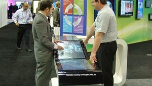 3M showed off its multitouch solutions at DSE 2011.