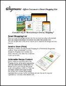 Wegmans Offers Customers a Smart Shopping List