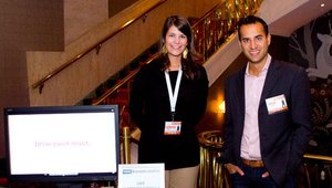 Left to right: Catherine Wilson, sales associate, and Ashish Ganbhir, executive vice president, newBrandAnalytics. The company was a Fast Casual Executive Summit associate sponsor.