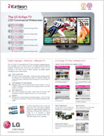 The LG EzSign TV LED Commercial Widescreen