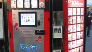 Also from Coinstar, the DVD Kiosk, branded here for DVD Express, drew attention from those visitors in the SuperStar Deployments booth.