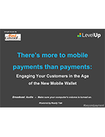Webinar: There's more to mobile payments than payments: engaging your customers in the age of the new mobile wallet
