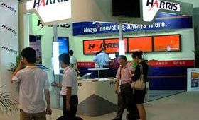 Harris Corp. showcased its InfoCaster and Punctuate solutions at the company's initial foray to the show.